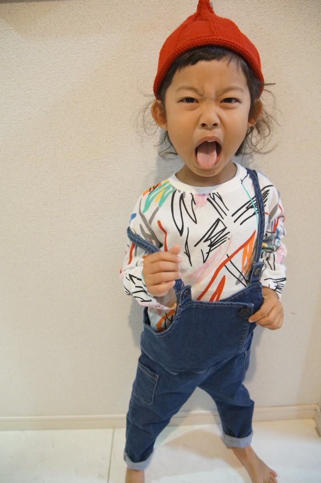 デニムサロペット☆インディゴブルー ラスト1点110サイズ