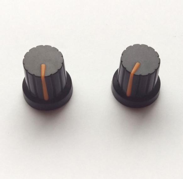 シンセ ツマミ型 マグネット 【黒×オレンジ】 Synth Knob Magnet SKM  | シンセサイザッカー
