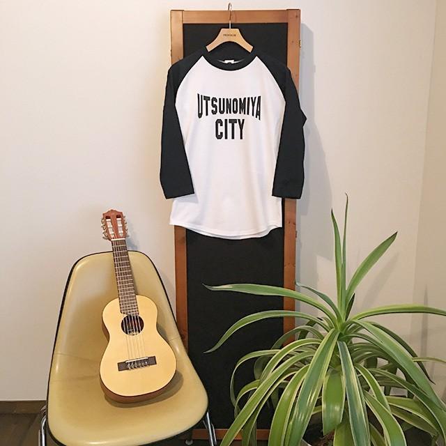 ラグラン 七分袖Tシャツ UTSUNOMIYA CITY ネイビ