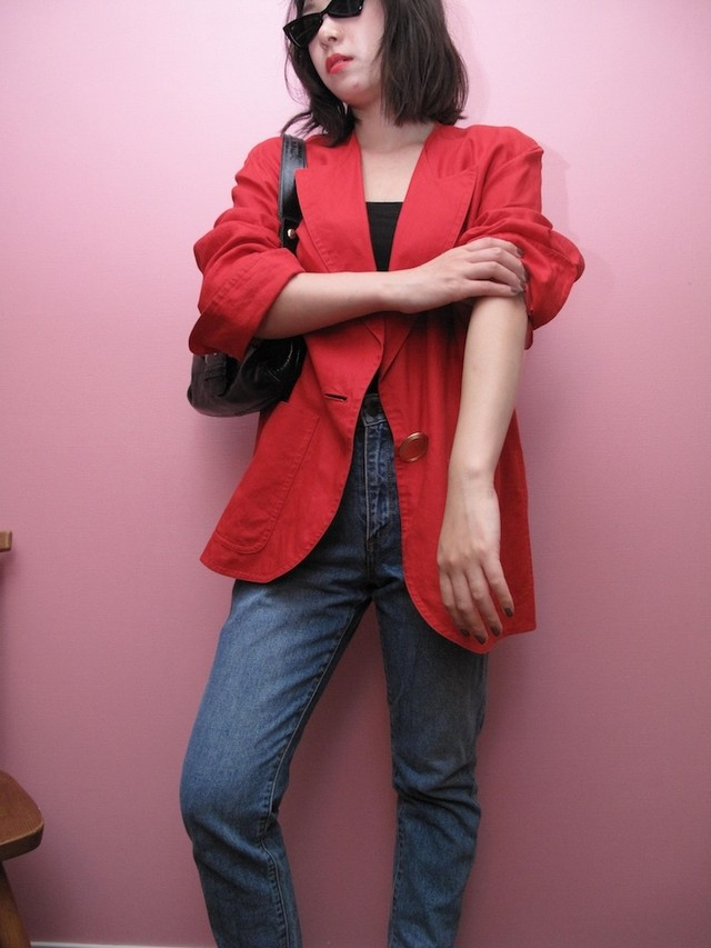 Red Linen Jacket by Dior