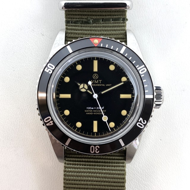 W.MT WATCH NEW CASE SEA DIVER Red Top Gilt Dial WMT473-02