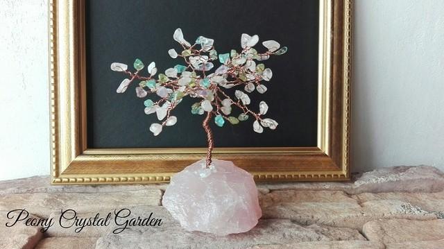 宝石の木 魔法のキャンディークリスタル ♪14 【招財樹 宝石 鉱物 標本 原石】