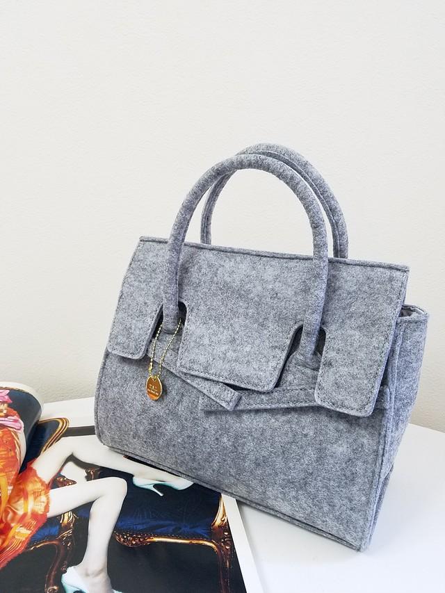 feltBirkin bag(gray・black)