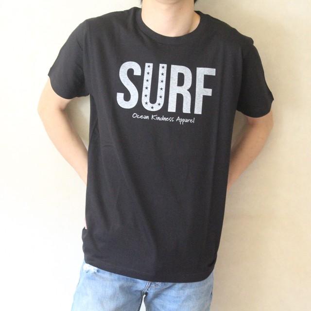 """""""SURF"""" Tシャツ(ブラック)"""