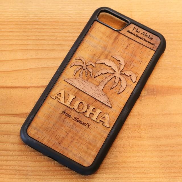 【 パームツリー 】  ハワイ産 スマホケース 【 Ho Aloha 】 ハワイアン コアウッド アイフォンケース