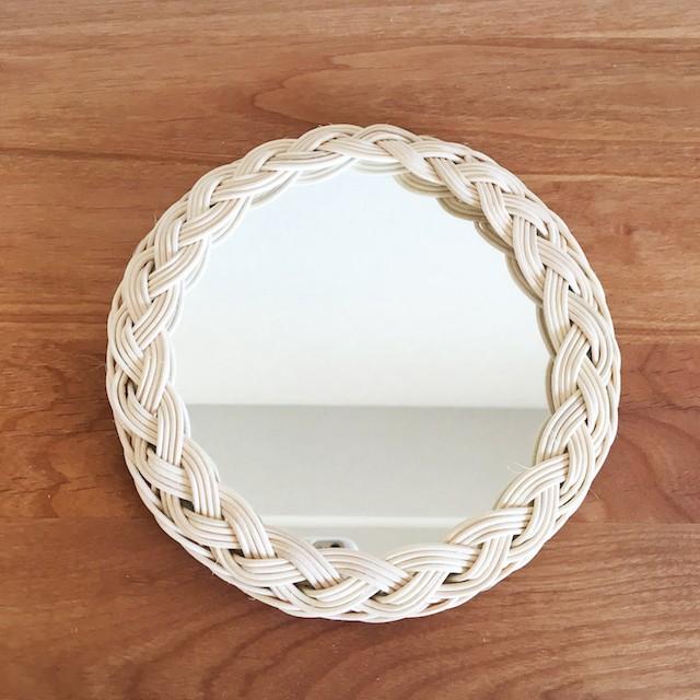 ラタンの 三つ編み ミラー