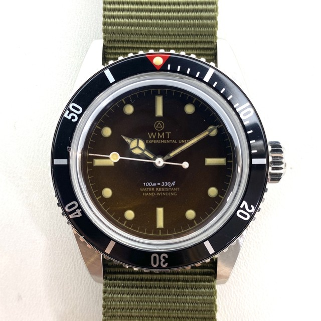 W.MT WATCH NEW CASE SEA DIVER Red Top Tropical Dial (AGED HANDS) WMT1142-05