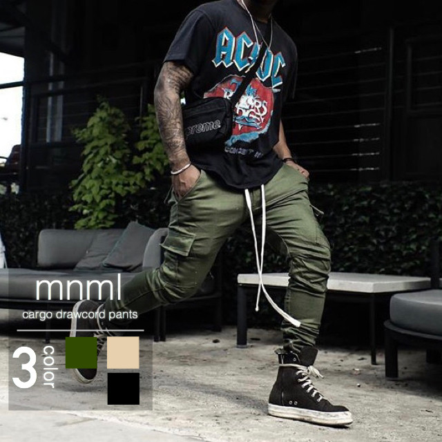 mnml (ミニマル) / cargo drawcord pants