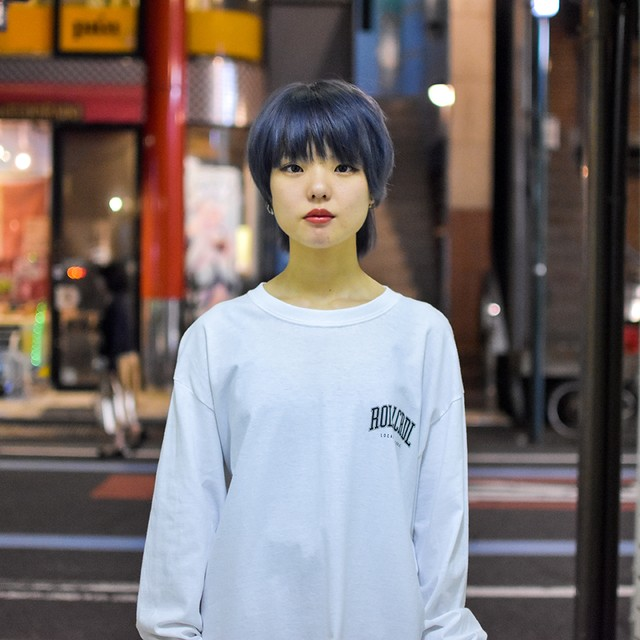 ROOLING CRADLE(ロリクレ) | RC LOGO LONG T-SHIRT -SHK ver- / White