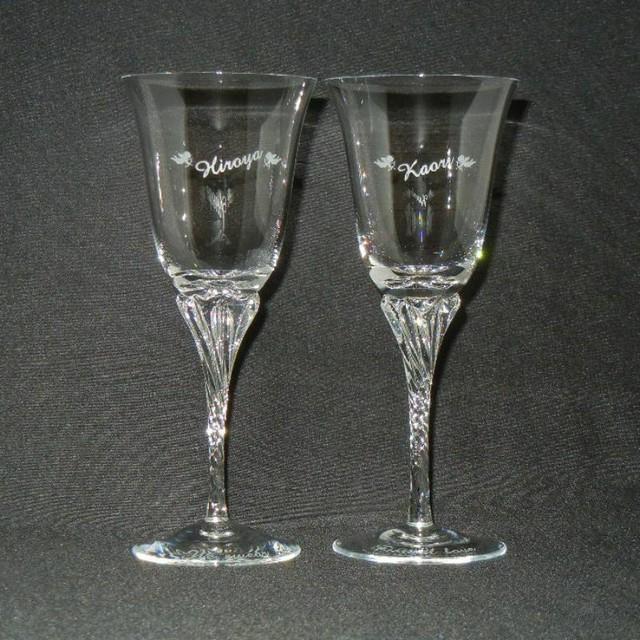 ペアワイングラス(クリア)  商品ID:G-0007                    化粧箱付 ギフト包装無料 送料別途(サイズ80)