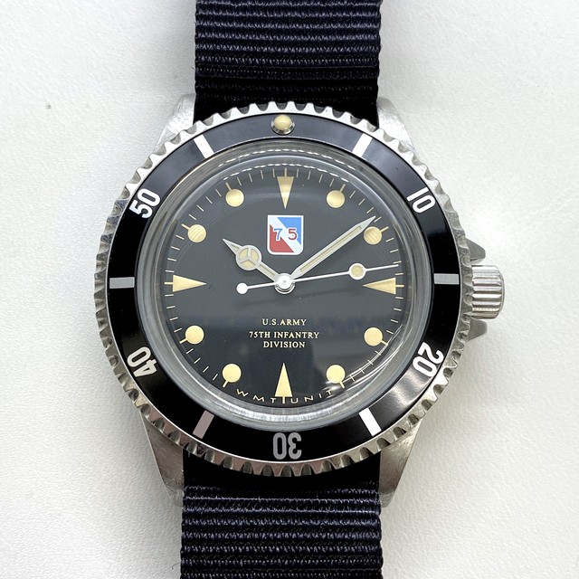 """W.MT WATCH """"Veterans Day"""" COLLECTION  Type 75th Infantry Division (AGED  CASE)"""