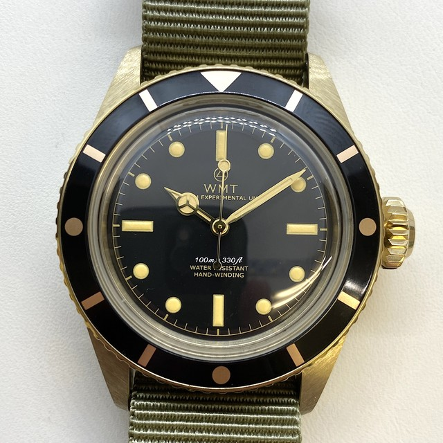 W.MT WATCH SEA DIVER YELLOW GOLD(PVD) GILT DIAL WMT249-01