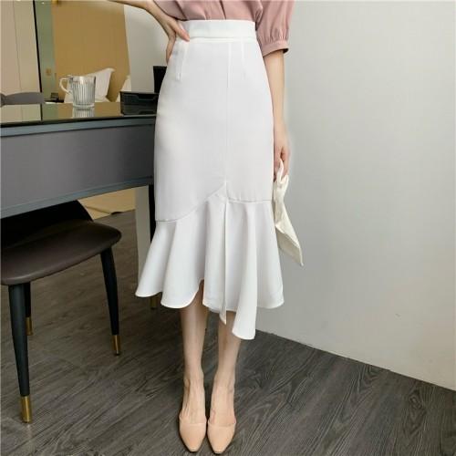 マーメイドスカート ハイウエスト きれいめ フェミニン エレガント オルチャンファッション 韓国ファッション