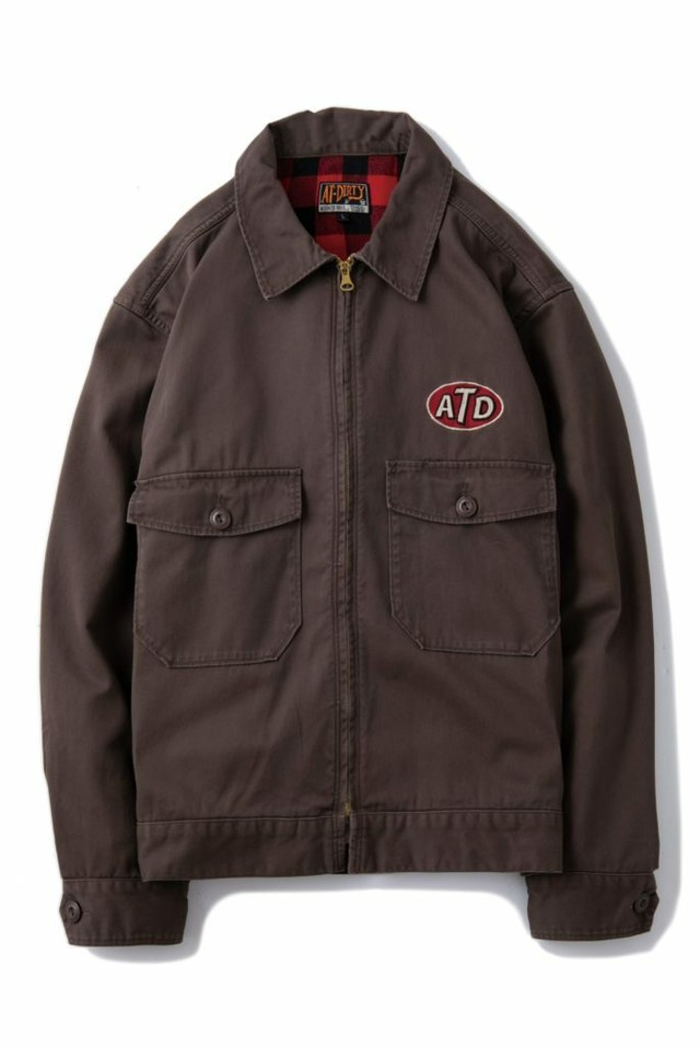 """AT-DIRTY(アットダーティー)/""""ATD UNION JACKET"""" (BROWN)"""