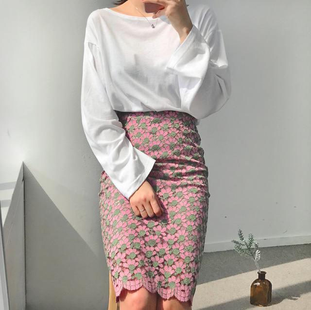 フラワーレーススカート(pink)
