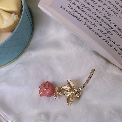 elegant rose barette