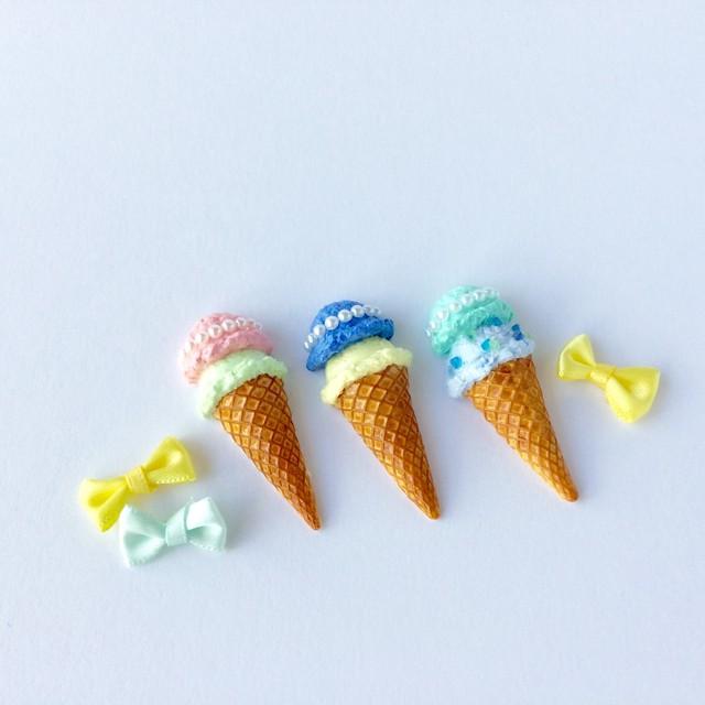 パールアイスクリームのブローチ2