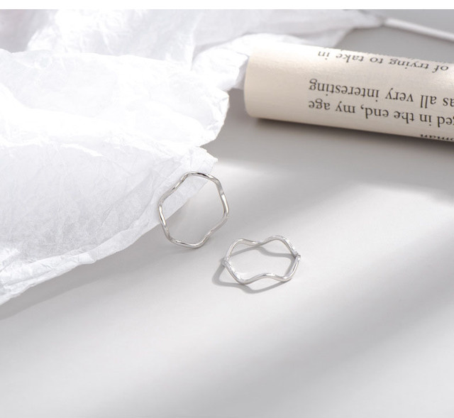 【silver925】 soft wave ring  R-01