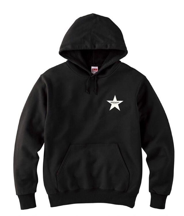 Drawing (ドローイング) ORIGINAL STAR SWEAT PARKA&PANTS SET BLACK