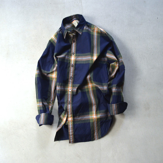 「KICS DOCUMENT」 Cttn Plaid Huge Shirt