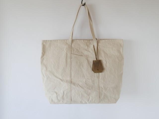Clasicc Tote bag <Off white L >