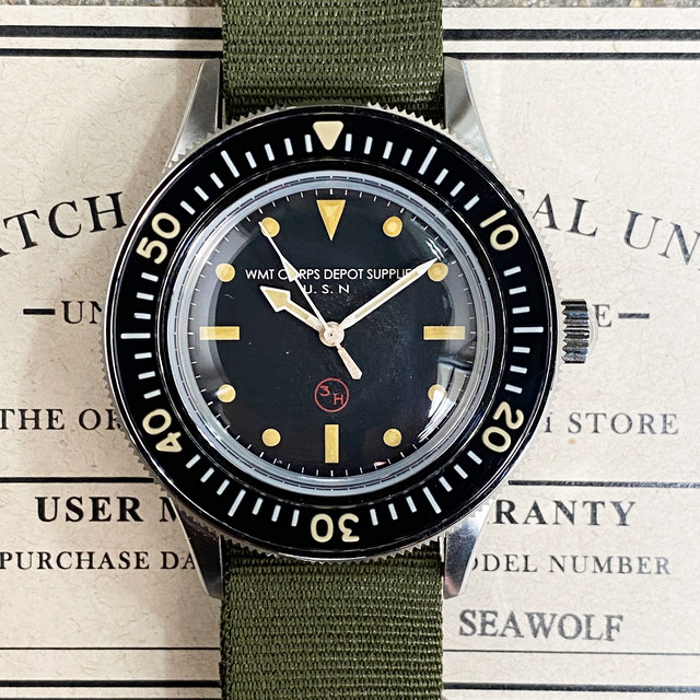 WMT WATCH Seawolf –3H Vintage Diver Edition / Limited 50 pc