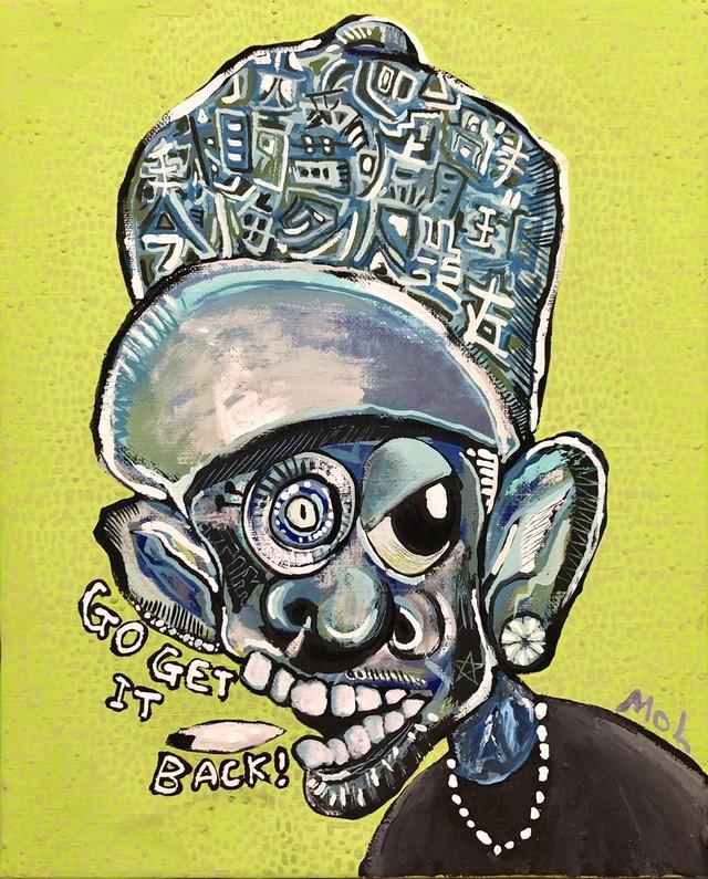 「time」(現代アート、ポップアート、絵画、アート作品、時間、HIPHOPART、タバコ、キャンバス作品、葉巻)