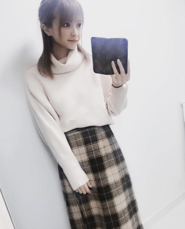【優月美羽さん着用】S1着 即納 チェックロングスカート ★チェック