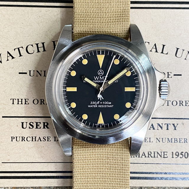 WMT WATCH  RM1950 MWM EXCLUSIVE British Armed Force (NH35) AGED HANDS WMT1630-02