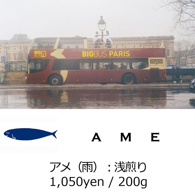MONTHLY BEANS No.1:AME - 雨 - 浅煎り