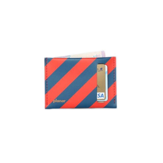 Wallet S -Red and Blue Stripes-