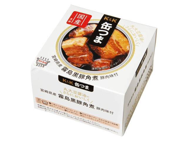 K&K 缶つまプレミアム 霧島黒豚 角煮 EO缶 携帯缶 x6 *
