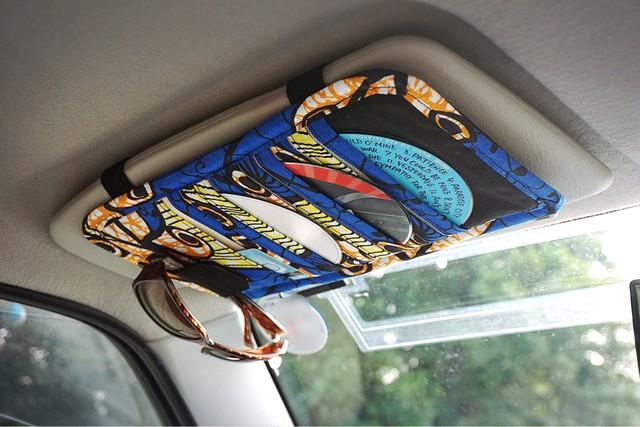 車用バイザーCDケース『blue×black』