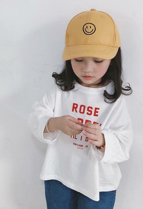 【予約商品】smileキャップ 子供帽子 アイボリー マスタード ブラック 全3色