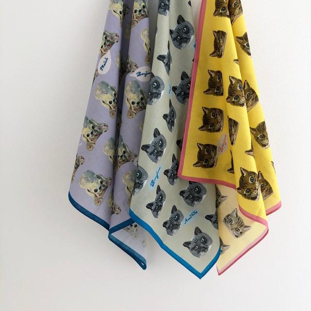 Nathalie LETE Handkerchief ナタリー・レテ ハンカチ :NL208/NL209/NL210