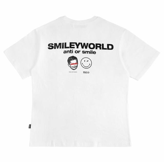 smiley world logo t-shirt (white)