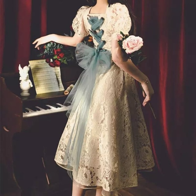 ♡Mon petite ribbon dress   可憐なリボン ワンピース