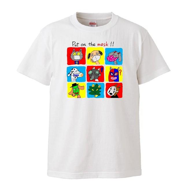 「アニマルMASK」Tシャツ by 犬の絵描きやさん Eriko Tsukui