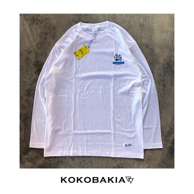 長袖Tシャツ ロンT カットソー SMOKING【スモーキング】 ホワイト メンズ レディース #ロックファッション #ストリートファッション