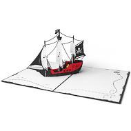 3DポップアップカードI LOVEPOP<<Pirate Ship>>