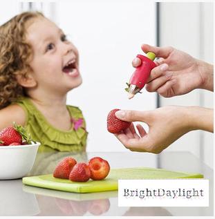 イチゴのヘタ取り いちごのへた が簡単にとれて かわいい キッチン 便利グッズ hkab232