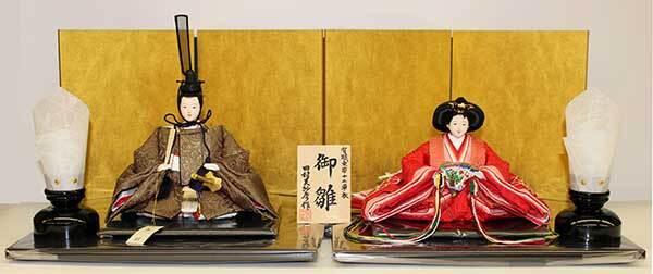 京十二番 正絹麹塵染め親王飾り