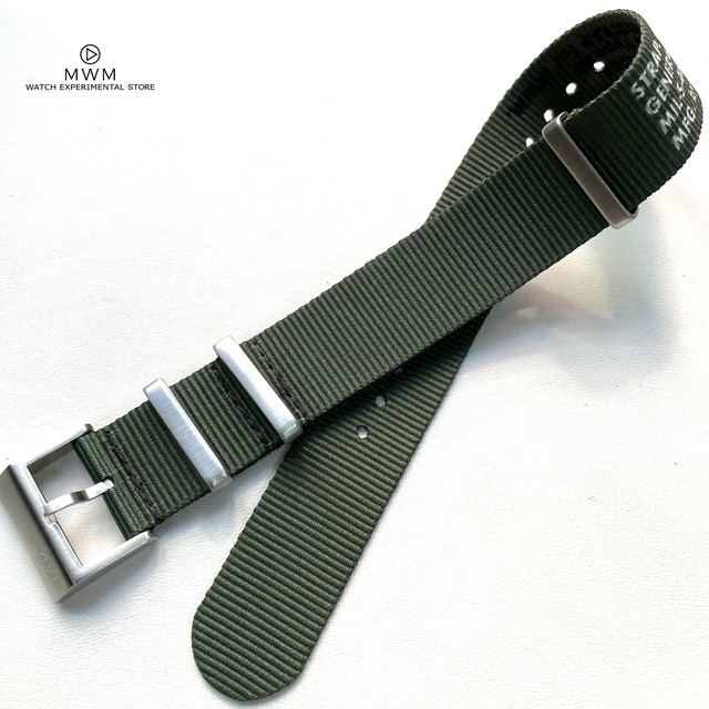TAD STRAP for MWM MIL-SPEC NATOストラップ オリーブ 20mm 腕時計ベルト