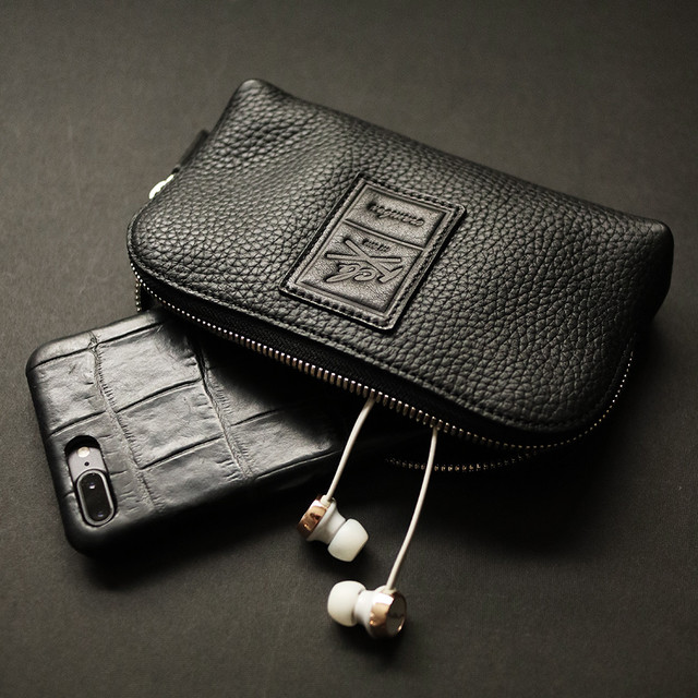 【M size】本革ポーチ 上質Excella Zip使用 Leather Pouch crambox