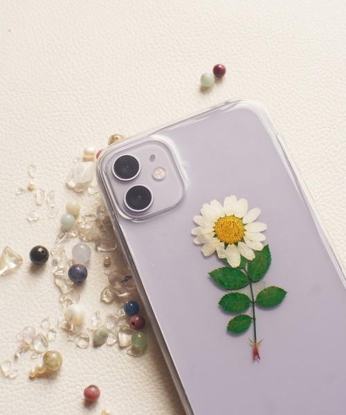 〈スマホケース〉ドライフラワー クリア iPhoneケース  1