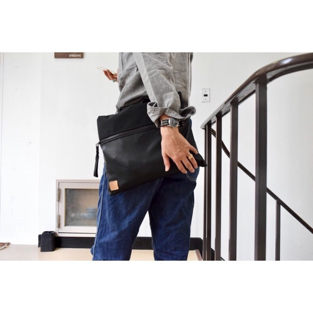 Simva164-0006 Cordura/Leather Pouch L