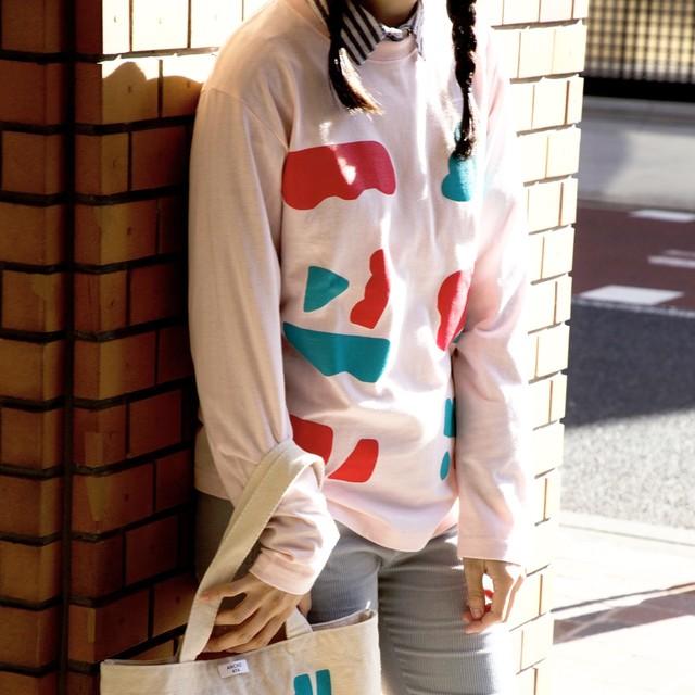 まるまる図形ロングスリーブTシャツ(3色展開)