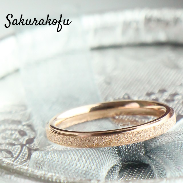 Pink gold Pinky Ring  size4/Titanium (人気ピンキーリング/チタン)