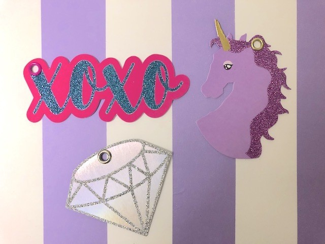 タグメッセージカード  ( Unicorn. xoxo. daiamond )