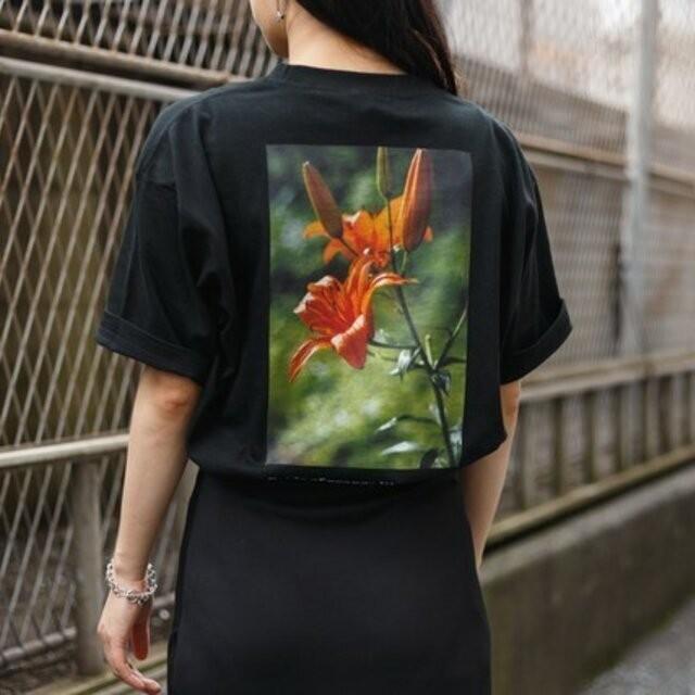 送料無料【OPTIMUS】レディース◆オニユリ◆バックプリントTシャツ_003